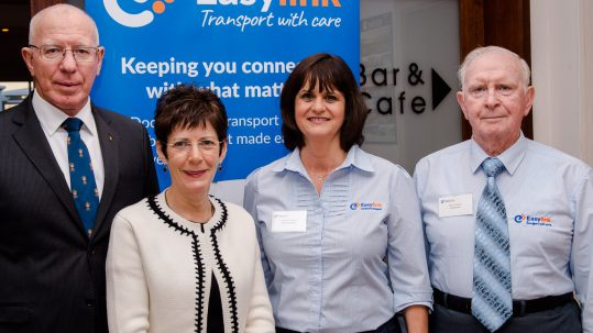 Governor of NSW and Mrs Hurley with Angela Doolan, Easylink General Manager and John Wilson, Chair of the Easylink Board